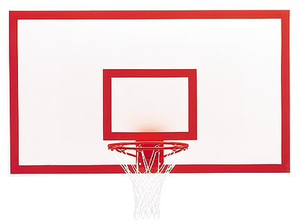 42 x 72 Rectangular Fiberglass Basketball Backboard with Markings