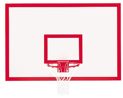 42 x 72 Rectangular Wood Basketball Backboard with Markings from Gared