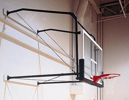 Four-Point Stationary Wall Mount with Adjustable 6' - '9' Extension from Gared (For Rectangular Backboards)