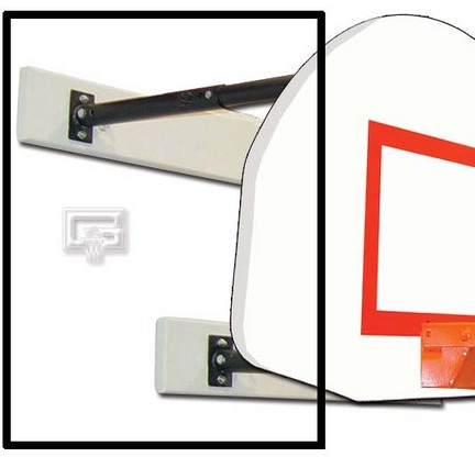 Three Point Wall Mount 3 ft. Extension Fan Board Mounting (9 12 ft.)
