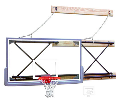 Side-Fold Wall Mount Series with 4-6' Foot Extension for Rectangular Backboard GAR-2500-4064