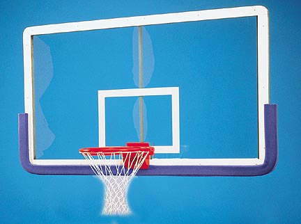 Outer Limit Pro 42 x 72 Rectangular Glass Basketball Backboard with Center Strut Reinforcer