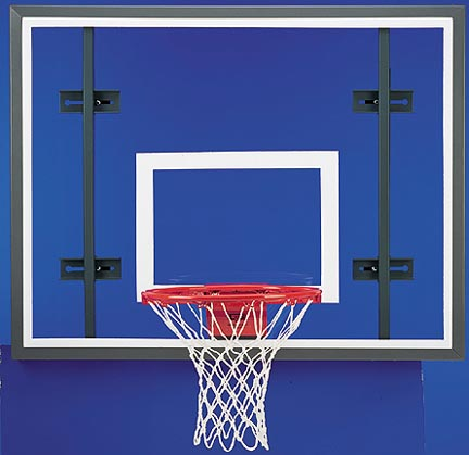 42 x 54 Rectangular Steel Frame Glass Conversion Basketball Backboard with Adapter Kit
