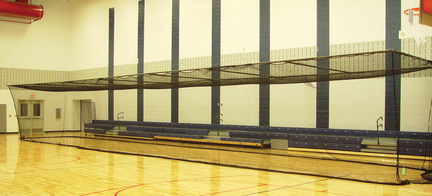 "Multi Sport Cage 10' H x 12' W x 55' L with 3/4"" Square Mesh Net"