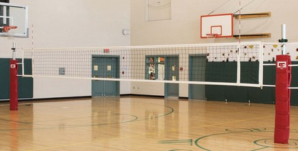 Scholastic Telescopic Three-Court Volleyball System