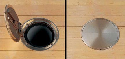 "6 1/4"" Chrome Cover Plate for Badminton Floor Sleeve"