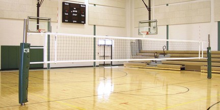 Collegiate 3 Court Volleyball System