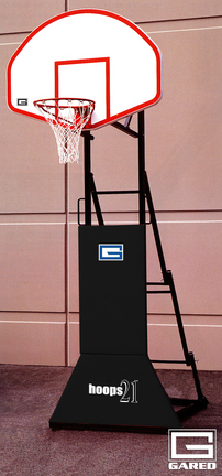 """HOOPS 21™ """"3 ON 3"""" Height Adjustable Portable Basketball Backstop with Pad"""