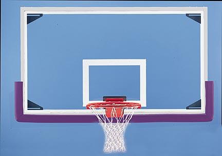 """42"""" x 72"""" Rectangular Glass Basketball Backboard"""