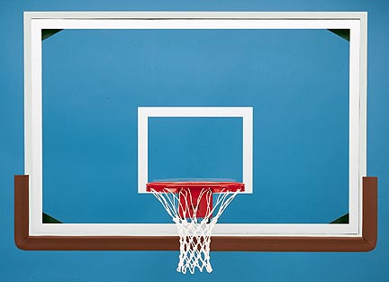 48 x 72 Rectangular Glass Basketball Backboard  In Aluminum Framing