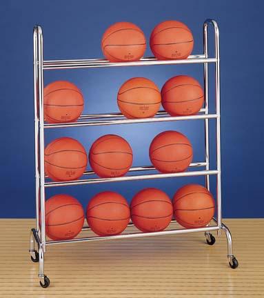 4 Tier Basketball Ball Rack 16 Ball Capacity