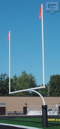 "5 9/16"" Football Goal Post Ground Sleeves - 1 Pair"