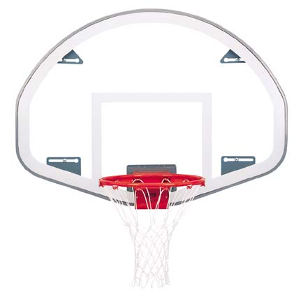 39 x 54 FanShaped Glass Basketball Backboard