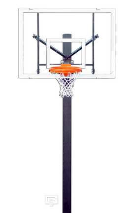 """Endurance Playground Basketball System with 42"""" x 60"""" Acrylic Backboard and 6' Extension"""
