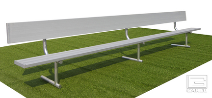 15' Portable Bench with Back