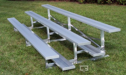 21' Fixed / Stationary Bleachers with Double Foot Planks (4 Row)