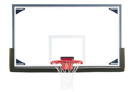 42 x 72 LXP4200 Rectangular Glass Basketball Backboard