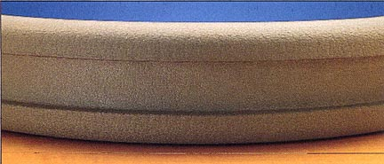 NCE Rubber Cushion Edge for Rectangular Basketball Backboard from Gared   Pair of Cushions