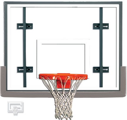 Indoor Side Court Gymnasium Glass Basketball System