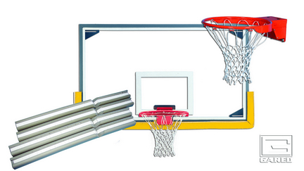 Indoor Economy Gymnasium Glass Basketball Backboard Package