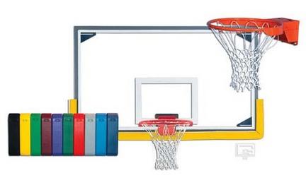 Indoor Collegiate Gymnasium Glass Basketball System