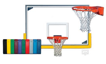 Indoor Scholastic Gymnasium Glass Basketball System