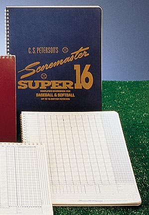 Petersons Baseball Super Scoremaster 16 Scorebook from Gared  Set of 12 Scorebooks