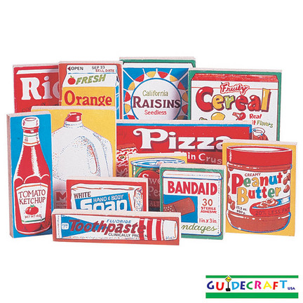 Grocery Store Food and Personal Care Play Products - Set of 12
