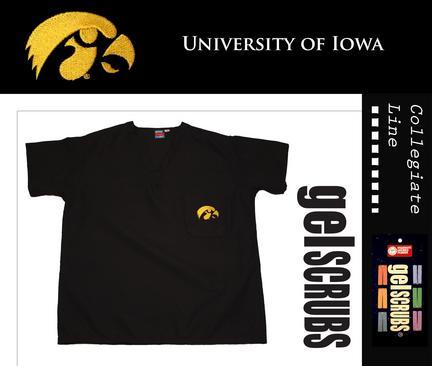 Iowa Hawkeyes Scrub Style Top from GelScrubs