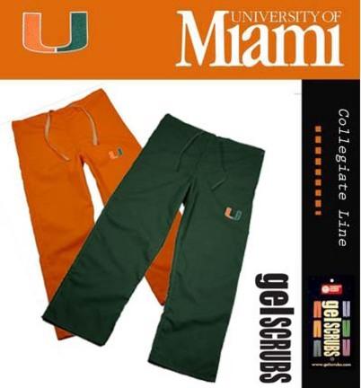 Miami Hurricanes Scrub Style Pant from GelScrubs
