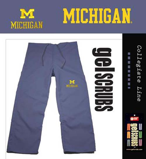 Michigan Wolverines Scrub Style Pant from GelScrubs (Extended Sizes) GEL-MIC-P-X