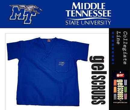 Middle Tennessee State Blue Raiders Scrub Style Top from GelScrubs
