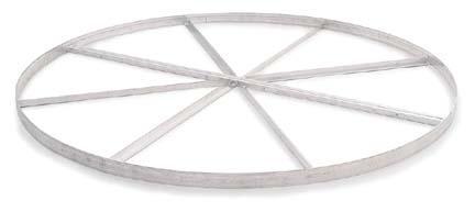 2Piece Aluminum Shot Put  Hammer Circle with Cross Bracing