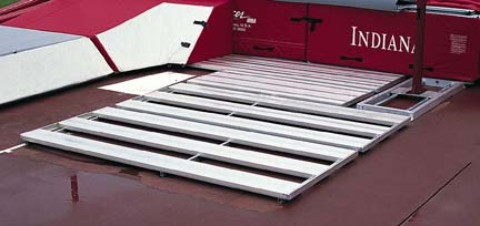 Aluminum Pit Platform for the Collegiate High Jump Landing System
