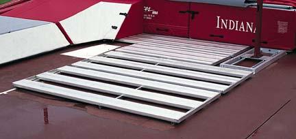 High Jump Aluminum Pit Platform for the Scholastic High Jump Landing System