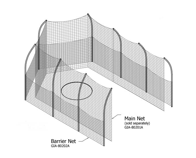 Barrier Net for High School Competition Discus Cage