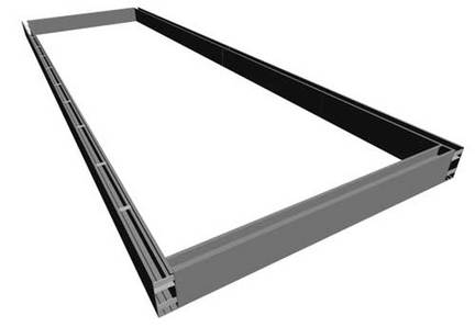 23' High School Long Jump / Triple Jump Sand Pit Form with Cover Ledge GIA-F42023