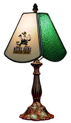 Notre Dame Fighting Irish Small Stained Glass Table Lamp