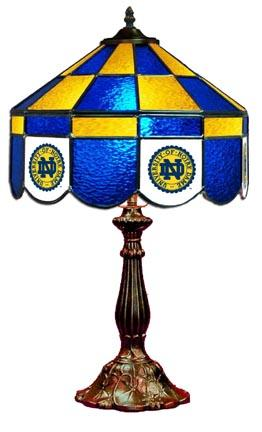 Notre Dame Fighting Irish Executive Stained Glass Table Lamp