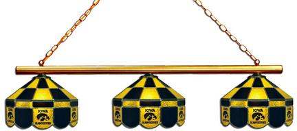 Iowa Hawkeyes Three Light Executive Game Table Lamp