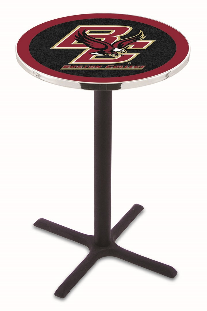 "Boston College Eagles (L211) 36"" Tall Logo Pub Table by Holland Bar Stool Company (with Black Wrinkle Base and 28&q"