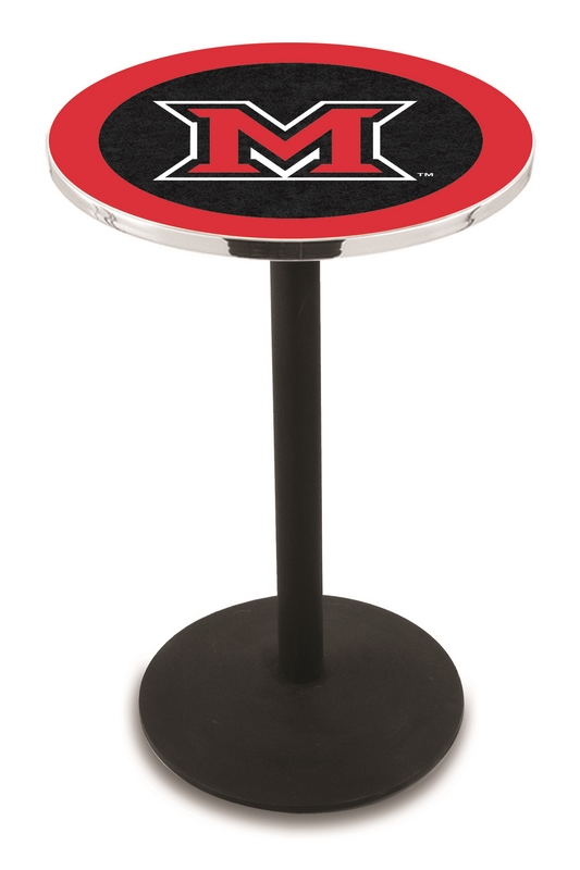 miami ohio redhawks l211 36 tall logo pub table by holland b