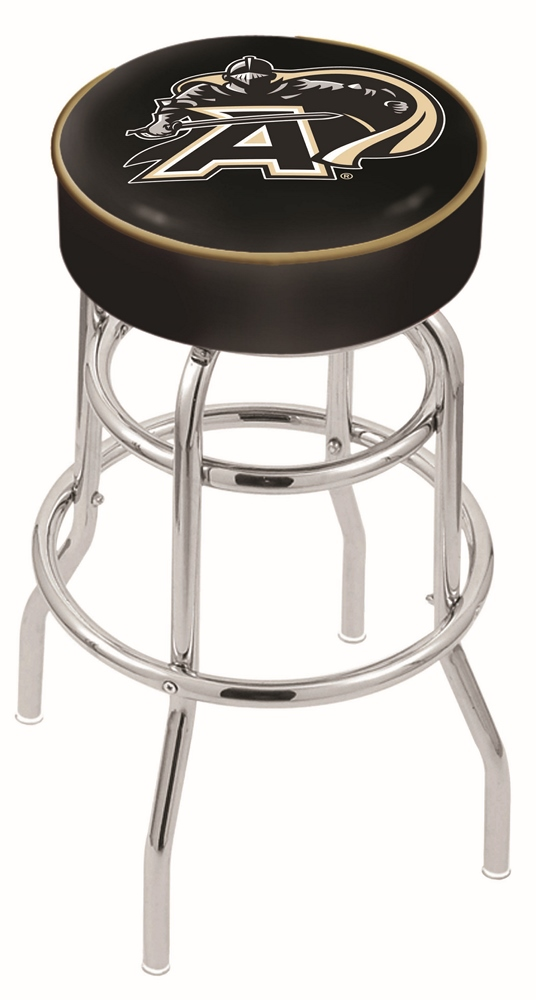 "Army Black Knights (L7C1) 25"""" Tall Logo Bar Stool by Holland Bar Stool Company (with Double Ring Swivel Chrome Base)"" HBS-HBS25L7C1-UNITEDSTATESMILITARYACADEMY"