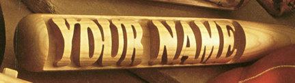 "Heavy Hitter Custom Personalized 18"" Mini Display Baseball Bat Sports Gear"