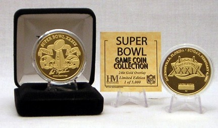 24KT Gold Super Bowl XXXIX Flip Coin from The Highland Mint