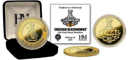 Chicago Blackhawks 2010 Stanley Cup Champions 24KT Gold Coin from The Highland Mint HLM-NHL10CGK