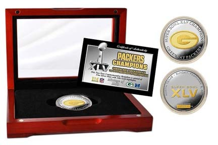 Green Bay Packers Super Bowl XLV Champions Two-Tone Coin from The Highland Mint