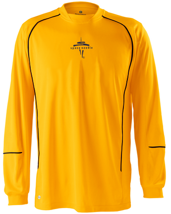 "Rival"" Long Sleeve Dry-Excel™ Twill Interlock Knit Shirt from Holloway Sportswear"