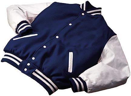 Varsity Wool with Leather Sleeves Jacket (Tall) from Holloway Sportswear