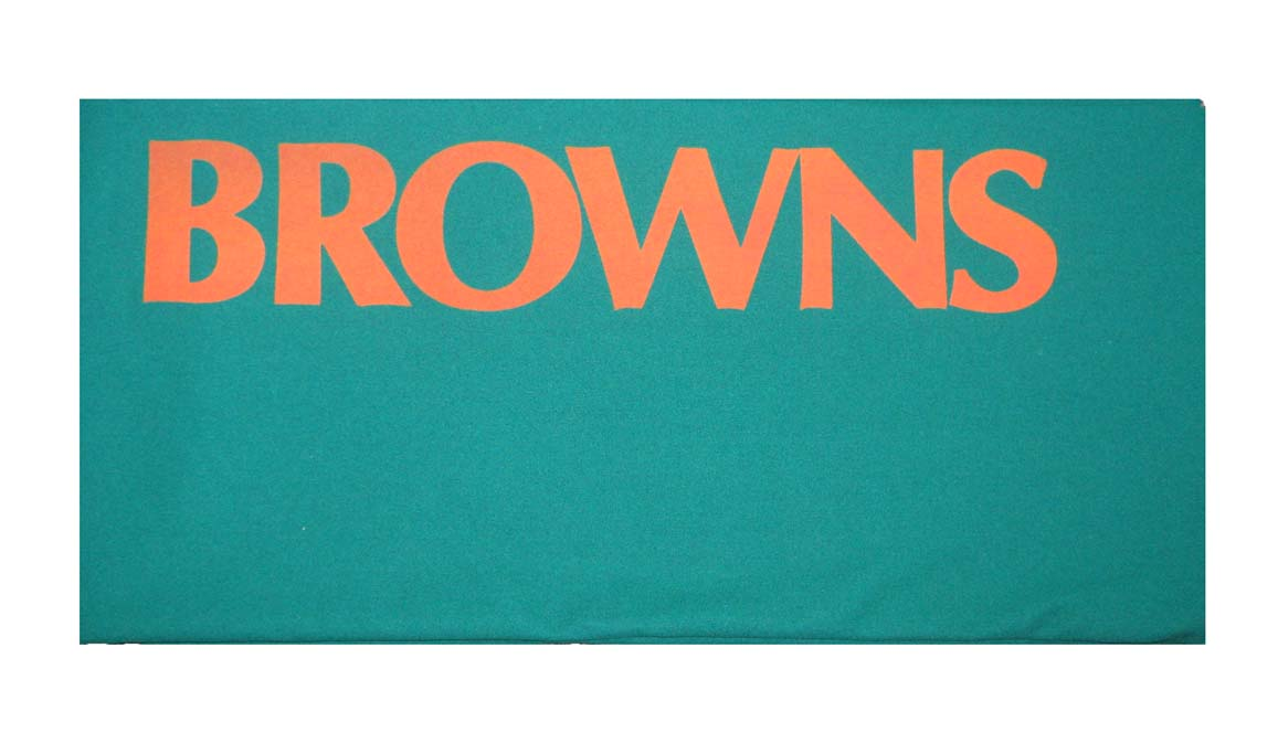 Image of 8' Cleveland Browns Bed & Rail Cloth (CLOTH ONLY)